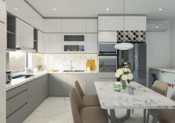Tủ bếp Acrylic ML81 thiết kế tủ bếp theo yêu cầu