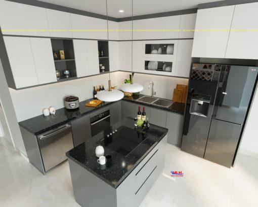 Tủ bếp Acrylic ML 90 1