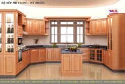 Tủ bếp gỗ căm xe ML 88 giá tốt