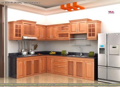 Tủ bếp gỗ sồi ML 87 giá rẻ