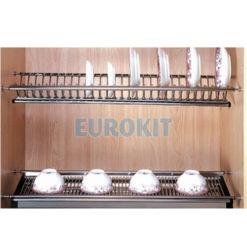 Giá bát dĩa cố định 2 tầng EuroKit GK012