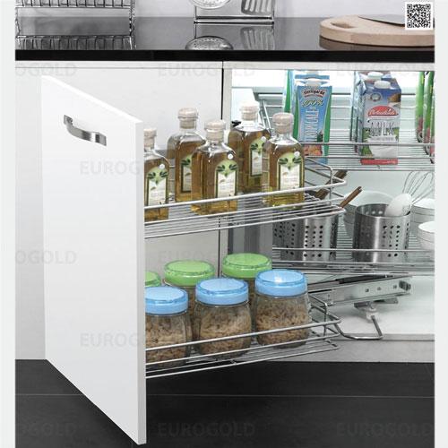 Kệ tủ bếp liên hoàn hộp giảm chấn EuroGold