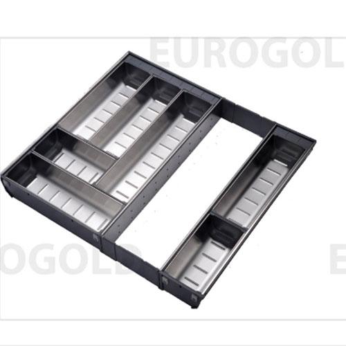 Khay chia thìa đĩa inox mở rộng EuroGold