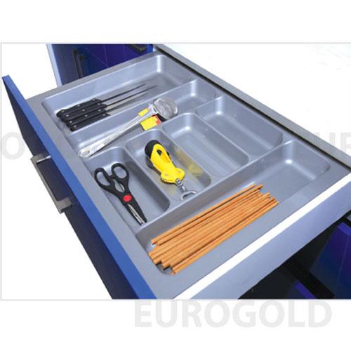 Khay chia thìa dĩa nhựa cao cấp EuroGold