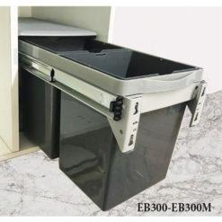 Thùng rác đôi gắn cánh âm tủ EuroGold