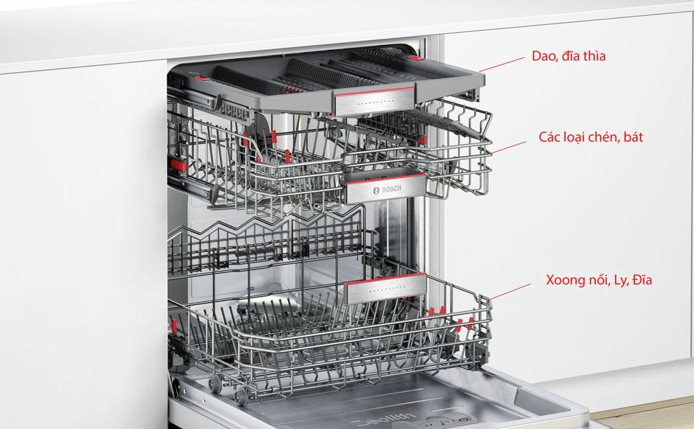 Máy rửa bosch âm tủ Bosch thiết kế thông minh
