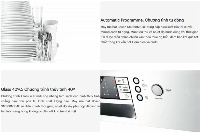 Tiện ích máy rửa bát Bosch Seri 6
